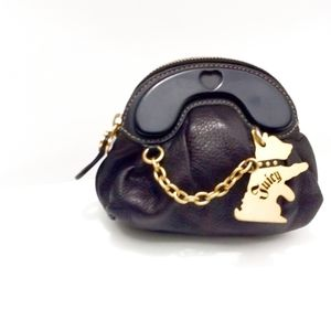 Juicy Couture Walking Scottie Leather Wristlet